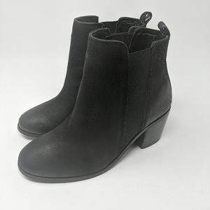Dune London | Black Block Heel chelsea booties